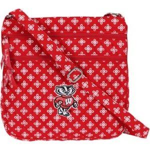 Vera Bradley UW Bucky Crossbody Bag Wisconsin NWT